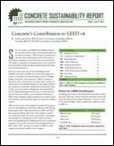 Concrete Sustainability Report